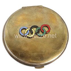 XI. Olympischen Spiele 1936 Berlin - Schminketui mit Taschenspiegelals Erinnerungsstück
