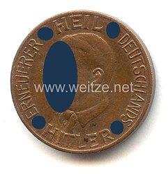"""III. Reich - Spendenmarke - """" Heil Hitler Erneuerer Deutschlands - Auch ich hab mitgeholfen 50 Opfer-Spende"""""""