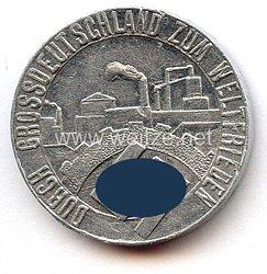 """NSDAP/Hitlerbewegung - kleine Medaille - """" Durch Grossdeutschland zum Weltfrieden - Die Saar ist frei 1.III.1935 NSDAP ( Hitlerbew.) Gau Wien """""""