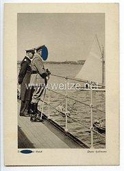 """III. Reich - Propaganda-Postkarte - """" Adolf Hitler - Der Führer auf Schiff """""""