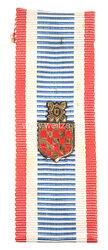 Kroatien Kriegs-Gedenkabzeichen mit Staatswappen 1943-1945