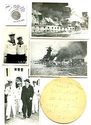 Kriegsmarine Nachlass des Signalgefreiten Werner Helmstedt des Panzerschiff Graf Spee