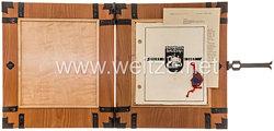 Luftwaffe - große Geschenkmappe des Startbahn Bauzuges 1 an den Regierungsbaurat Luley zur Erinnerung an die Leistungsübersicht des Zuges 1941-1943