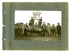 Deutsches Kaiserreich Foto, Soldaten auf einem Fesselballon