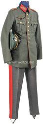 Wehrmacht großes Uniformensemble aus dem Besitz von Generalmajor Hermann Zeitz