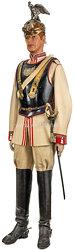 Preußen Uniformensemble eines Unteroffiziers im Regiment der Gardes du Corps im schwarzen Kürass zur Friedensparade