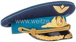 Sowjetunion Kalter Krieg: Parade Schirmmütze M54 für Offiziere der Luftwaffe