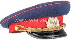 Sowjetunion Kalter Krieg: Schirmmütze M58 für einen Angehörigen der Miliz (Polizei)