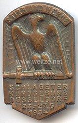 """III. Reich - Schlageter Kundgebung Düsseldorf 26.-27.5.1934 """" Stirb und werde """""""