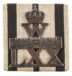 Preussen Erinnerungsabzeichen zum 70. Geburtstag Kaiser Wilhelm II. 1929