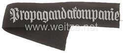 """Wehrmacht Heer Ärmelband """"Propagandakompanie"""" für Offiziere"""