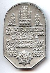 III. Reich - 60. jähr. Jubiläum Kameradschaft der Garde Münster i/W Kreiskriegerverbandsfest 30.-31. Mai 1876-1936