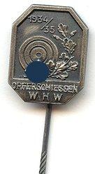 """III. Reich - WHW - """" Opferschiessen 1934/1935 """""""