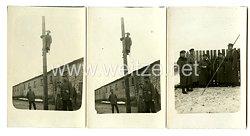 1. Weltkrieg Deutsches Kaiserreich Fotos, Telefonleitung wird verlegt