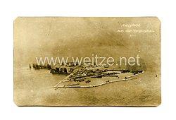 Deutsches Kaiserreich Foto, Helgoland aus der Vogelschau