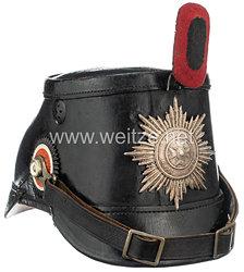 Württemberg Tschako für Mannschaften im Königlich Preußischen Telegraphen-Bataillon Nr. 1, Württembergisches Detachement 1. Bataillon 4. Kompanie
