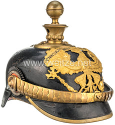 Preußen Pickelhaube für einen Fähnrich im Feldartillerie-Regiment von Scharnhorst (1. Hannoversches) Nr.10