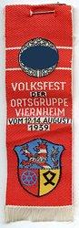 III. Reich - NSDAP - Volksfest der Ortsgruppe Viernheim vom 12.-14. August 1939