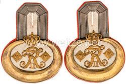 Preußen Paar Epauletten für einen Hauptmann im Grenadier-Regiment König Friedrich der Große (3. Ostpreußisches) Nr. 4