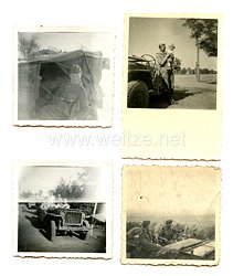 Wehrmacht Heer Fotos, deutsche Soldaten auf einem US Beutefahrzeug Jeep Willy an der Ostfront