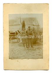 1. Weltkrieg Deutsches Heer Foto, Angehörige einer Sanitätskolonne
