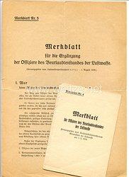 Merkblatt Nr. 4 und 5 für die Offiziere des Beurlaubtenstandes der Luftwaffe