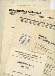 III. Reich - Kameradschaftliche Vereinigung der Offiziere d.B. des Wehrersatzbezirks Hamburg e.V. - Dokumentengruppe