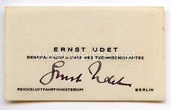 Luftwaffe - Originalunterschrift von Ritterkreuzträger Generalmajor Ernst Udet