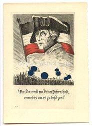 """III. Reich - farbige Propaganda-Postkarte - """" Friedrich der Große - Was Du ererbt von Deinen Vätern hast, erwirb es um es zu besitzen ! """""""