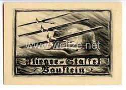"""Stahlhelmbund - Propaganda-Postkarte - """" Flieger-Staffel Baustein - Stahlhelm Flugzeug-Spende """""""