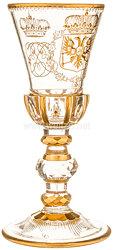 Zaristisches Russland Großer Geschenk Glaspokal für die Zarin Elisabeth Petrowna (1741 - 1762)