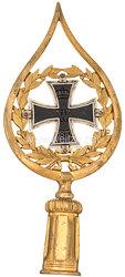 Preußen Fahnenspitze für Bataillonsfahnen mit dem Großkreuz des Eisernen Kreuzes 1870