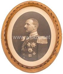 Hessen-Darmstadt gerahmtes Geschenkfoto mit originaler Unterschrift des GroßherzogsErnst Ludwig