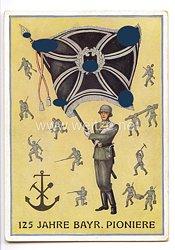 """III. Reich - farbige Propaganda-Postkarte - """" 125 Jahre Bayr. Pioniere - 1813-1938 Bayerische Pioniere """""""