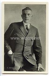 III. Reich - frühe Portraitpostkarte des späteren Polizeipräsidenten und SA-Obergruppenführer Edmund Heines
