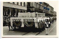 """III. Reich - Propaganda-Postkarte - """" Tag der Deutschen Kunst 1933 - Festzug """""""