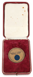 """III. Reich - Ehrenmedaille - """" Unsern Dank für Deutsche Arbeit im Elsass """" der Kaiser Wilhelms Universität Strassburg"""