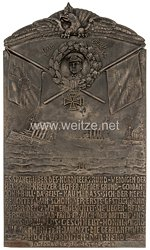 1. Weltkrieg U-Bootwaffe: große Erinnerungstafel an den U-Boots-Kommandanten Otto Weddigen zum Versenkungserfolg vom 20. September 1914