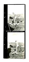 Wehrmacht Heer Foto, Nackter Soldat beim reinigen