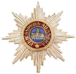 Mecklenburg-Schwerin Hausorden der Wendischen Krone - Bruststern zum Großkreuz mit der Krone in Erz