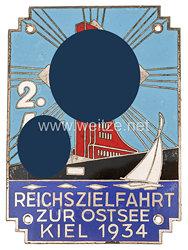 """Allgemeine-SS große nichttragbare Teilnehmerplakette """"2. SS-Reichszielfahrt zur Ostsee Kiel 1934"""""""