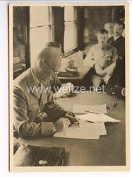 """III. Reich - Propaganda-Postkarte - """" Adolf Hitler - Compiègne 1940 - General Huntziger unterzeichnet die Waffenstillstandsbedingungen für Frankreich """""""