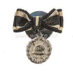 Knopflochdekoration mit 1 Auszeichnung für einen Frontsoldaten des 1. Weltkrieges