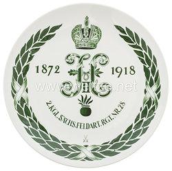 """Ehrenschale aus Meißner Porzellan des""""2.Königlich Sächsischen Feldartillerie Rgt. Nr. 28 - 1872 - 1918"""""""