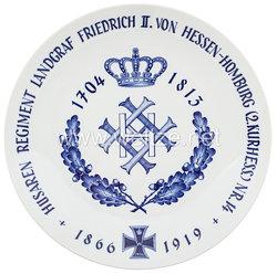 """Ehrenschale aus Meißner Porzellan des königlich preußischen """"Husaren-Regiment Landgraf Friedrich II. von Hessen-Homburg (2. Kurhess.) Nr. 14"""""""