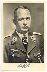 Luftwaffe - Originalunterschrift von Ritterkreuzträger Oberstleutnant Adolf Wolf