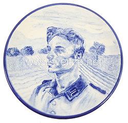 Reichsarbeitsdienst ( RAD ) - großer Erinnerungsteller eines Arbeitsmannes