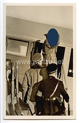 """III. Reich - Propaganda-Postkarte - """" Adolf Hitler in Oesterreich - Flugplatz Aspern. Der letzte Gruß des Führers an seine Wiener """""""