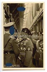 """III. Reich - Propaganda-Postkarte - """" Adolf Hitler - Benito Mussolini - Der Führer und der Duce - Die Garanten des Friedens """""""
