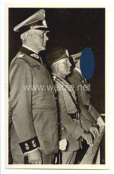 """III. Reich - Propaganda-Postkarte - """" Adolf Hitler - Benito Mussolini - Von der historischen Kundgebung auf dem Maifeld, Berlin """""""
